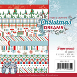 YCPP10019 Paperpad - Christmas Dreams - Yvonne Creations