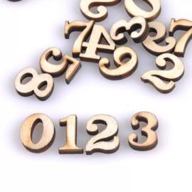 Houten figuurtjes - Nummers - 100 stuks