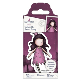 GOR907147 Mini rubber stempel nr.48 Dreaming - Gorjuss