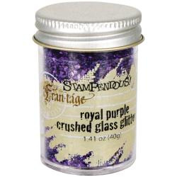 Frantage Royal Purple Crushed Glass Glitter - Stampendous