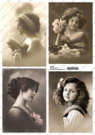 GH3355 Vintage vel - Vintage (4 plaatjes) - Gerda's Hobbyshop