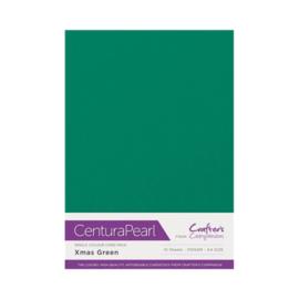Kerst Groen - Glanskarton A4 310 grams - 10 vel - Centura Pearl
