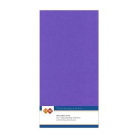 18 Violet - Linnen Kaarten 4 kant 13.5x27cm - 10 stuks - 200 grams - Card Deco