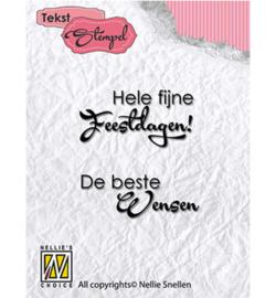 DTCS016 Clearstempel Nederlandse tekst - Nellie Snellen