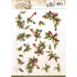 CD10904 Knipvel A4 - The Nature Christmas - Marieke Design
