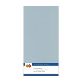 25 Grijs - Linnen Kaarten 4 kant 13.5x27cm - 10 stuks - 200 grams - Card Deco