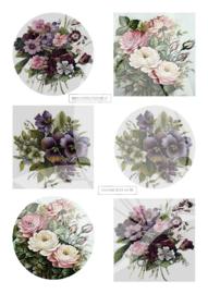 JD045 Vintage vel A4 Bloemen - Jellie Design