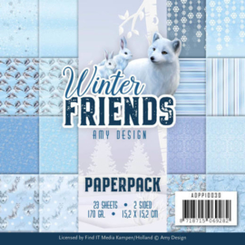 ADPP10030 Paperpad - Winter Friends - Amy Design