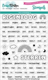 CDST-0062 Stempels Regenboog & Sterren - Carlijn Design