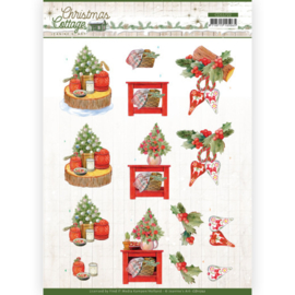 CD11722 3D vel A4 - Christmas Cottage- Jeanine's Art