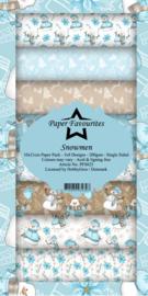 PFS023 Dixi Slimline PaperPack 10x21 cm Snowmen
