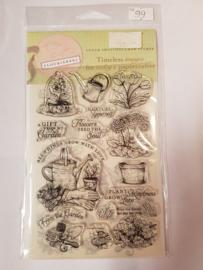 SS099 Diversen tuin en kleine tekstjes Clearstempel - Flourish
