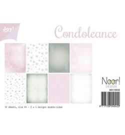 6011-0542 Papierset A4 - Condoleance - Joy Crafts