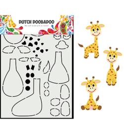 470.713.864 - Card Art Built up Giraffe - Dutch Doobadoo