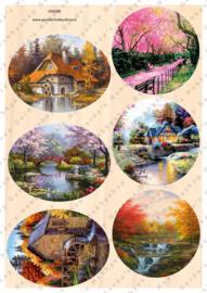 GH3382 Vintage vel - Cirkels Landschappen - Gerda's Hobbyshop