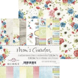 Paperpad Set 15,2 x 15,2 cm - Moms Garden - Craft-O-Clock