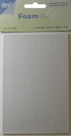 Foam Pads 2,0mm/2,5mm blok wit 6500/0013 10x15cm - Joy Crafts