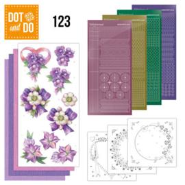 Dot en Do nr. 123 - Bloemen paars