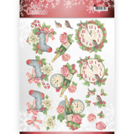 CD11377 3D Knipvel A4 - Lovely Christmas - Jeanine's Art