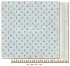 745 Scrappapier dubbelzijdig - Vintage Baby - Maja Design