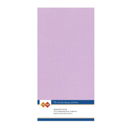 57 Pink - Linnen Kaarten 4 kant 13.5x27cm - 10 stuks - 200 grams - Card Deco