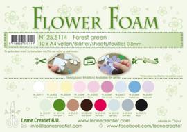25.5114  Flower foam sheets A4 0.8mm. Forest green - per stuk