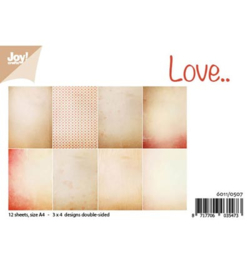 6011/0507 Paperbloc A4 a 12 vel - Love - Joy Crafts