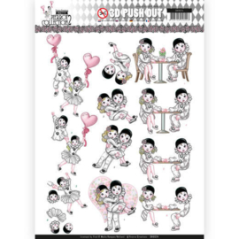 SB10324 Stansvel A4 - Pretty Pierrot 2 - Yvonne Creations
