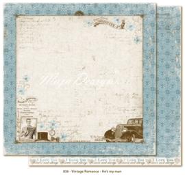 836 Scrappapier dubbelzijdig - Vintage Romance - Maja Design