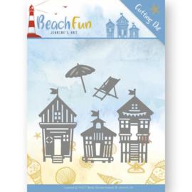 JAD10040 Snij- en embosmal - Beach Fun - Jeanine's Art
