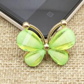 Vlinder Rhinestone - Groen - per stuk