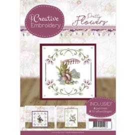 CB10020 Creative Embrodery - Pretty Flowers - Marieke Design