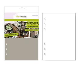 CraftEmotions karton kraft Ringband lichtbruin 12 vel 14,5x20,5cm - 220 gr - 6 Ring A5