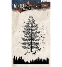 STAMPWT303 Clear stempel - Winter Trails - Studio Light