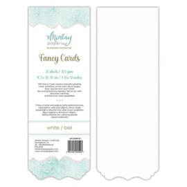 Fancy Cards - 20 stuks 300 grams Wit  10,5 x 30,48cm - Mintay