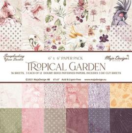 Paperpad 15,2 x 15,2 cm -  Tropcial Garden - Maja Design