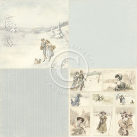 PD5202 Scrappapier Dubbelzijdig - Days of Winter - Pion Design
