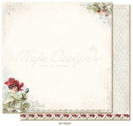 931 Scrappapier dubbelzijdig - Joyous Winterdays - Maja Design