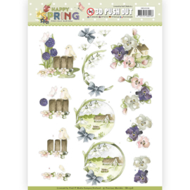 SB10328 Stansvel A4 - Happy Spring - Marieke Design