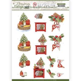 SB10590 Stansvel A4 - Christmas Cottage- Jeanine's Art