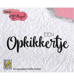 DTCS012 Clearstempel Nederlandse tekst - Nellie Snellen
