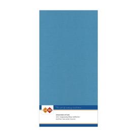 40 Turquoise - Linnen Kaarten 4 kant 13.5x27cm - 10 stuks - 200 grams - Card Deco