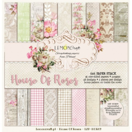 Paperpad 15.2 x 15.2 cm House of Roses 36 vel  - Lemon Craft
