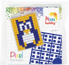 Sleutelhanger setje compleet - Uil  -  Pixel Hobby