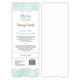 Fancy Cards Accolade - 20 stuks 300 grams Wit 10,5 x 30,48cm - Mintay