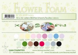25.5039 Flower foam sheets A4 0.8mm. Ivory - per stuk