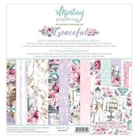Paperpad Mintay - Graceful 30,5 x 30,5 cm - MT-GRA-07 - PAKKETPOST!!!