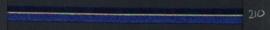 9mm lint Organza/Satijn - Donker Blauw - 1 meter