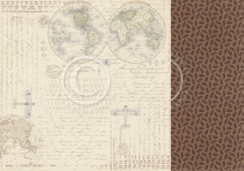 PD14007 Scrappapier dubbelzijdig - The Worlds Await - Pion Design