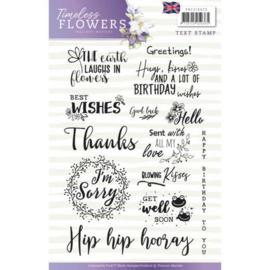 PMCS10029 Clearstempel - Tekst ENG - Timeless Flowers - Marieke Design